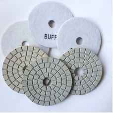 Буфф белый диаметр 100 мм